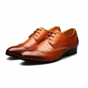 Men Brown Colored Brogues Leather Corporate Shoe