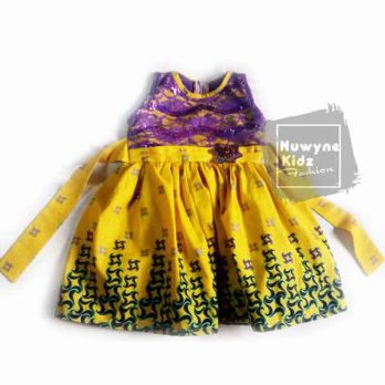 Nuwyne Kids Fashion Children Classic Net Petal Dress