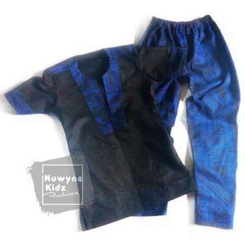 Nuwyne Kids Boys Ankara-Chinos Casual Wear