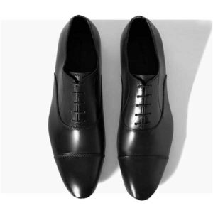 Men Black Laced Oxford Leather Corporate Shoe
