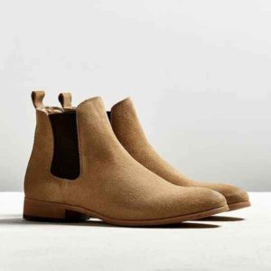 Men Butter Color Suede Leather Chelsea Boot