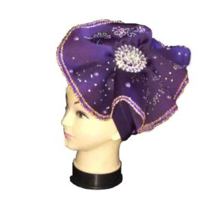 Women Studded Easily-Worn Whorl Petals Turban