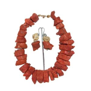 Women Original Bamboo Coral Beaded Necklace