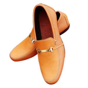 Men Nude Leather Moccasin Casual Shoe