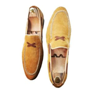 Men Suede Moccasin Skin Leather Shoe