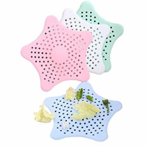 3pcs Kitchen Silicone Five-Pointed Star Sink Filter