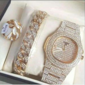Patek Phillips Iced Watch 3in1 Package