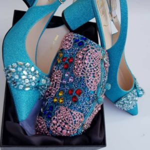 Ladies Shoe With Matching Clutch Purse