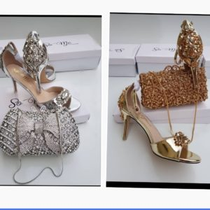 Ladies So-Me Sandals With Matching Italian Clutch Purse