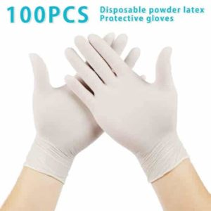 Santaz Latex Examination Hand Gloves Pack Of 50 Pairs - 100 Pieces