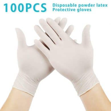 Santaz Latex Examination Hand Gloves 50 Pairs 100 Pieces