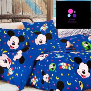 Mickey Mouse Duvet & Bed Sheet - 4 Pillow Cases