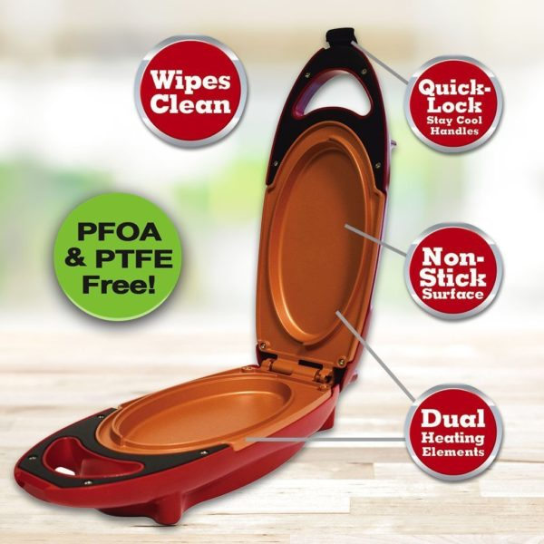 Red Copper 5 Minutes Chef Electric Cooking Plate - Non-Stick