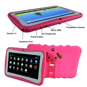 Atouch k89, kids tablet 1GB RAM +8GB Storage Android 6.0, 7-Inch - No Sim Card