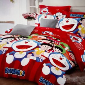 Children's Doraemon Character Bed Sheet - 4 Pillow Cases