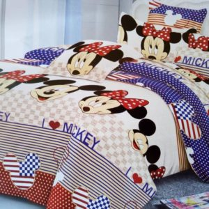 Children's Mickey Mouse Character Bed Sheet - 4 Pillow Cases