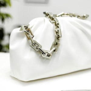 Tough Leather Chain Strap Women's Office Bag