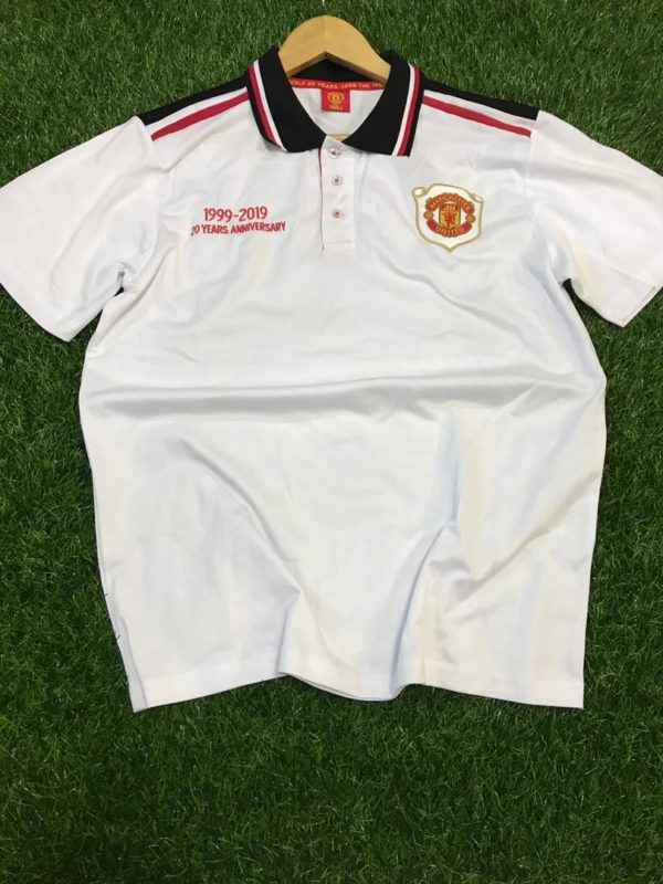 Club Crested Designer Polo T-Shirt - Manchester United