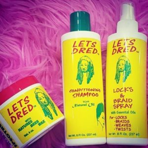 Lets Dred Bees Wax, Conditioning Shampoo and Locks & Braid Spray