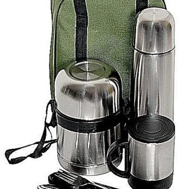 Generic Back To School Stainless Steel 5 In 1 Gift Set - With Carriage Bag