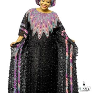 Stylish Abaya/ Kaftan With Matching Head Tie - CASH MADAM