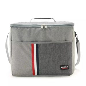 Sannea Insulated Canvas Picnic Lunch Bag - Box Hot, Warm or Cold