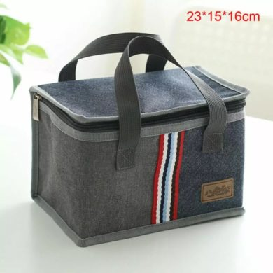 Insulated Canvas Picnic Lunch Bag - Box Hot, Warm or Cold