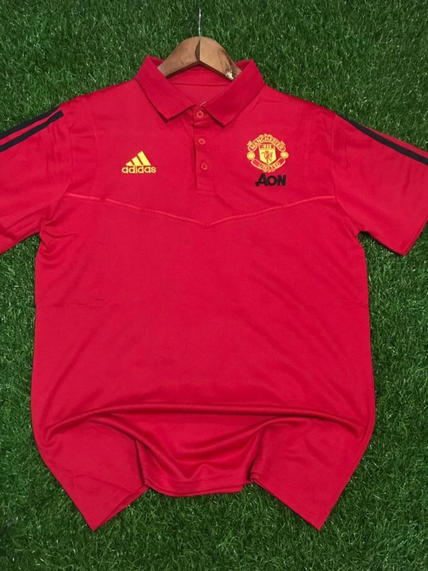 Manchester United Club Crested Adidas Polo