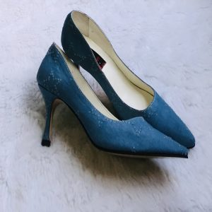 Mid Heel Jeans Pointed Shoe