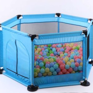 Playpen Child Safety Fence With Mesh And Ocean Balls