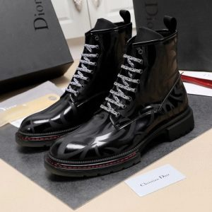 CHRISTIAN DIOR ATELIER BLACK CODROW 3 RUE DE MARIGNAN PARIS MEN'S BOOT