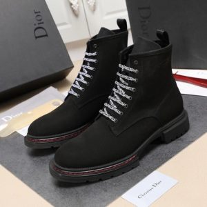 CHRISTIAN DIOR ATELIER SUED BLACK CHELSEA BOOT