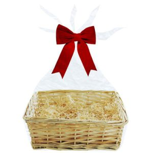 Hamper Basket and Wrap - Small, Medium and Large