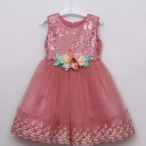 Girl Children Kids New Arrival Sleeveless Dinner Party Princess Dress Ball Gown