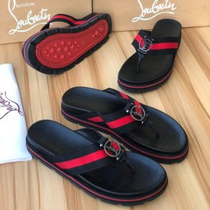 CHRISTAIN LOUBOUTIN PALM SLIPPERS