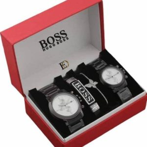 BOSS PREMIUM QUALITY HIS OR HER FASHION ACCESSORIES FOR STYLISH COUPLE GIFT SET