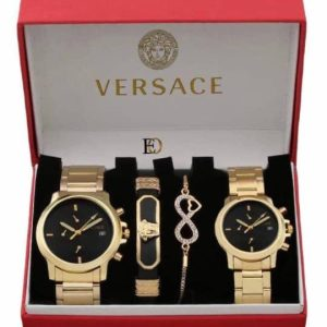 VERSACE Premium Quality His and Hers Fashion Accessories for the Stylish Couple Gift set