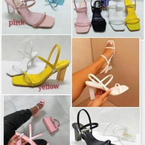 WOMEN BLOCK HEEL CUTE SANDALS