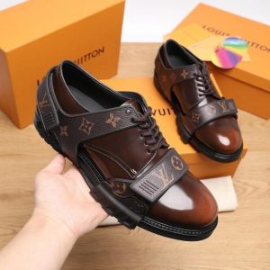 REMOVABLE LUXURY LV STRAP PARIS CASUAL MEN'S SHOES