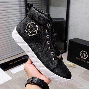 COWRY SKIN LEATHER BOOT SNEAKERS