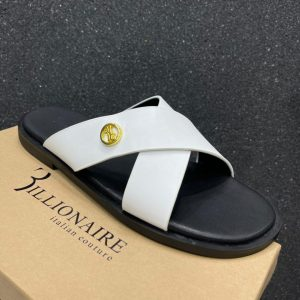 Pure Leather ITALIAN COUTURE Black Sole CRISS CROSS Palm SIPPERS