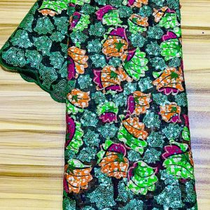 LADIES SEQUENCE ANKARA LACE - 6 Yards Per Pack