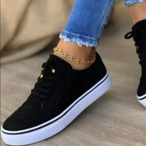 LADIES FASHION TRENDY LACED SNEAKERS