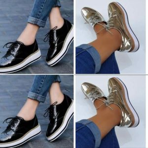 LADIES FASHION LACED SNEAKERS