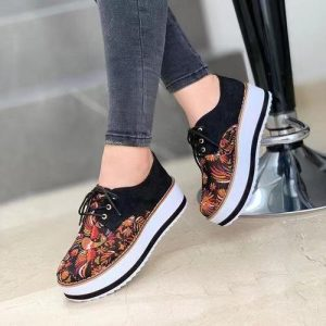 LADIES CLASSY FASHION LACED SNEAKERS
