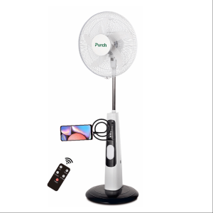 Purch 18″ Rechargeable Stand Fan With Remote Control + USB Port