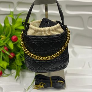 Ladies Fashion Bag With Knitted Pouch