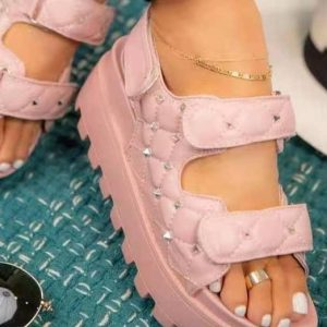 Summer Wedges Thick Sole Sandals Ladies Buckle Shoes