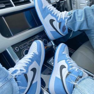 Male Casual HighTop Sneakers Leisure Travel Shoes Blue