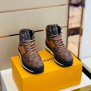 LV Ankle HighTop Fashion Boot Sneakers For Men